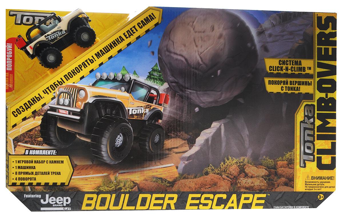 Tonka Игрушечный трек Boulder Escape набор маленький трек с умной машинкой поли