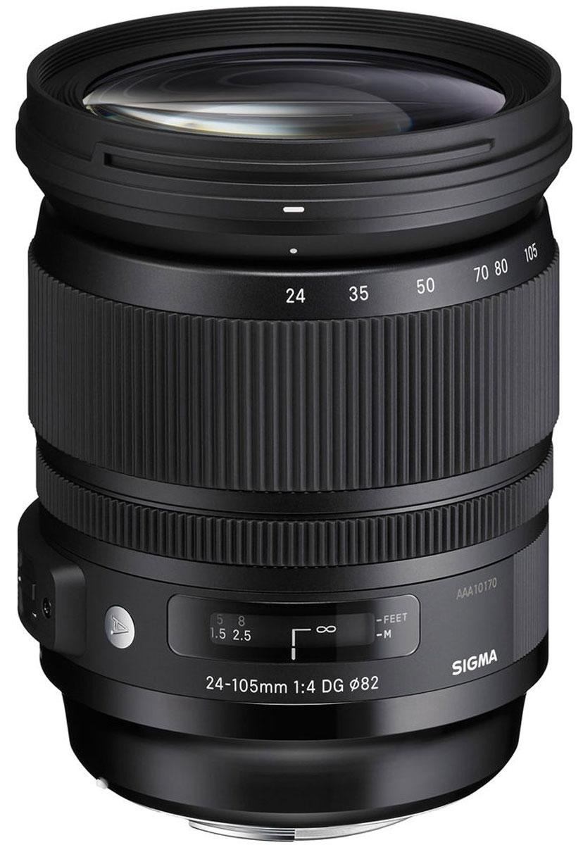 Sigma AF 24-105mm f/4.0 DG HSM Art объектив для Sony635962В последнее время цифровые зеркальные камеры стремительно развиваются, поэтому все больше фотографов находятся в поиске объектива, который позволит полностью раскрыть потенциал сенсоров с высоким разрешением. Во многих случаях фотографам требуется зум-объектив, который более удобен, чем набор объективов с постоянным фокусным расстоянием, но в то же время они не хотят терять в качестве изображения. В качестве решения подобной дилеммы корпорация Сигма с гордостью представляет свой новейший стандартный зум Sigma 24-105mm F4 DG OS HSM/Art. Этот объектив предназначен для камер с полноформатными сенсорами, имеет постоянную светосилу и обладает стабильно высокимкачеством изображения на всем диапазоне фокусных расстояний. Более того, объектив имеет разрешение, которое превышает разрешение существующих на рынке камер и может эффективно использоваться с камерами нового поколения.Зум-объективы с переменным фокусным расстоянием очень удобны, ведь их не приходится постоянно снимать/устанавливать на камеру, чтобы изменить фокусное расстояние. Sigma AF 24-105 mm F/4.0 DG OS HSM Art предлагает самый популярный диапазон фокусных расстояний от широкого угла до среднего телефото для камер с полноформатными сенсорами. Кроме этого, объектив имеет постоянную светосилу F4, оптический стабилизатор изображения и ультразвуковой мотор фокусировки, что значительно повышает удобство и универсальность применения. Объектив отлично подходит для портретной, пейзажной фотосъемки, а также для традиционной фотографии.Sigma AF 24-105 mm F/4.0 DG OS HSM Art воплощает концепцию линейки Art и отвечает самым высоким стандартам качества изображения. Обычно объективы с подобным фокусным расстоянием имеют тенденцию демонстрировать астигматические и цветовые аберрации и искажения по полю кадра. С целью минимизировать подобные искажения в объективе применяются последние технологические инновации – линзы из флюоритоподобного стекла FLD, линзы и сверхнизко