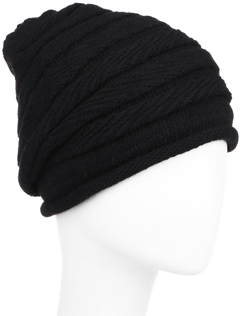 Купить Шапка женская Finn Flare, цвет: черный. W16-11129_200. Размер 56