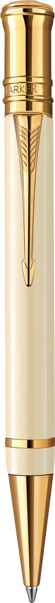 Parker Ручка шариковая Duofold Ivory GT черная