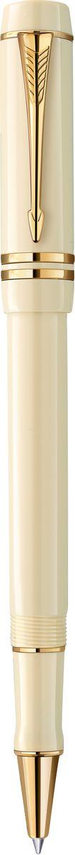 Parker Ручка роллер Duofold Ivory GT черная ручка роллер parker sonnet t528 s0817970 matte black gt f черные чернила подар кор