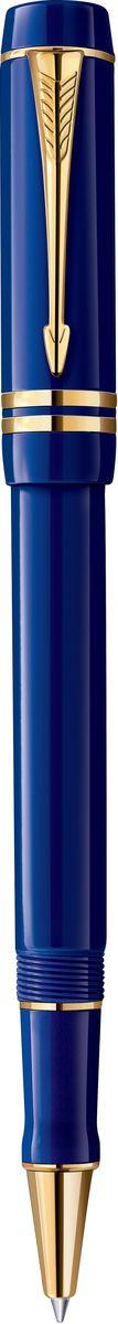 Parker Ручка роллер Duofold Lapis-Blue GT чернаяPARKER-1907187Роллер Duofold Lapis-Blue GT, корпус синего цвета, позол.дет.,черные чернила, F