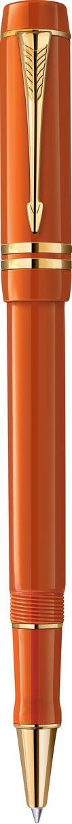 Parker Ручка роллер Duofold Big Red GT черная ручка роллер parker sonnet t528 s0817970 matte black gt f черные чернила подар кор