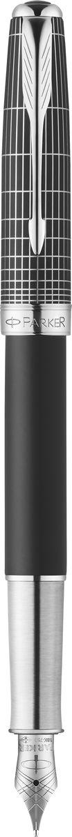 Parker Ручка перьевая Sonnet Contort Black Cisele синяяPARKER-1930256Ручка перьевая Sonnet Contort Black Cisele, черный матовый лак, лазерная гравировка, син чер, перо F