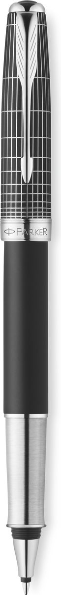 Parker Ручка роллер Sonnet Contort Black Cisele чернаяPARKER-1930258Роллер Sonnet Contort Black Cisele, черный матовый лак, лазерная гравировка, черные чер, F