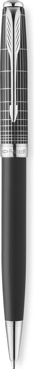 Parker Ручка шариковая Sonnet Contort Black Cisele чернаяPARKER-1930259Ручка шариковая Sonnet Contort Black Cisele, черный матовый лак, лазерная гравировка, черные чер, M