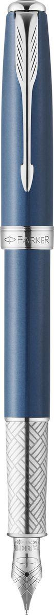 Parker Ручка перьевая Sonnet Secret Blue Custom Shell синяяPARKER-1930260Ручка перьевая Sonnet Secret Blue Custom Shell, перламутровый синий лак, серебр детали, син ч,перо F