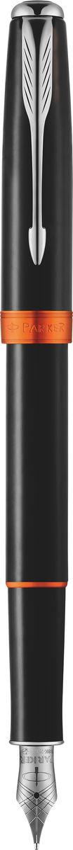 Parker Ручка перьевая Sonnet Subtle Big Red синяяPARKER-1930487Ручка перьевая Sonnet Subtle Big Red, черный лак, рутен-алюм детали, синие чернила, перо F