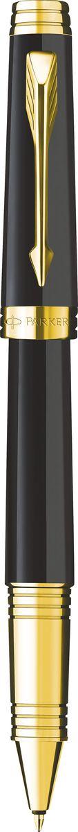 Parker Ручка роллер Premier Laсquer Black GT черная конвертер parker functional z12 s0102040 черный чернила