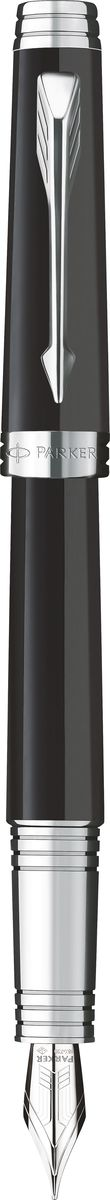 Parker Ручка перьевая Premier Lacquer Black ST черная diplomat ручка excellence b black lacquer перо diplomat d20000081