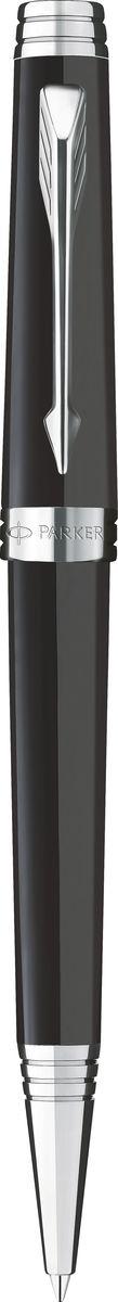 Parker Ручка шариковая Premier Lacquer Black ST чернаяPARKER-S0887880Ручка шариковая Premier Lacquer Black ST, черн лак. корпус, посеребрен.детали,черные чер, M