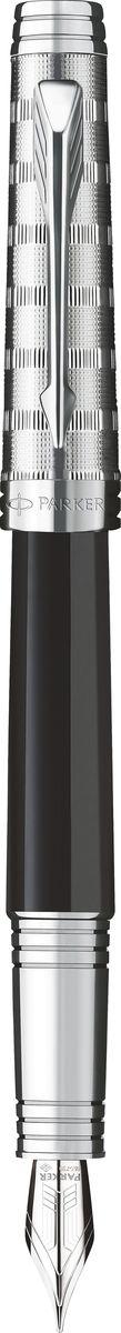Parker Ручка перьевая Premier Custom Tartan ST черная