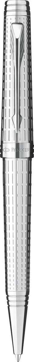 Parker Ручка шариковая Premier DeLuxe ST чернаяPARKER-S0888000Ручка шариковая Premier DeLuxe ST, посеребрен латун корпус с гравир посеребрен детали, чер.ч, М