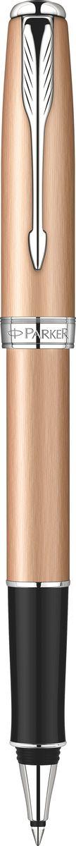 Parker Ручка роллер Sonnet Pink Gold PVD CT черная016092-08Роллер Sonnet Pink Gold PVD CT, золотисто-розовый корпус, хромированные детали,черные чернила F