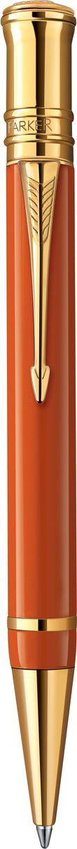 Parker Ручка шариковая Duofold Big Red GT чернаяPARKER-S0850650Ручка шариковая Duofold Big Red GT, корпус красного цвета, позол.дет.,черные черн,М