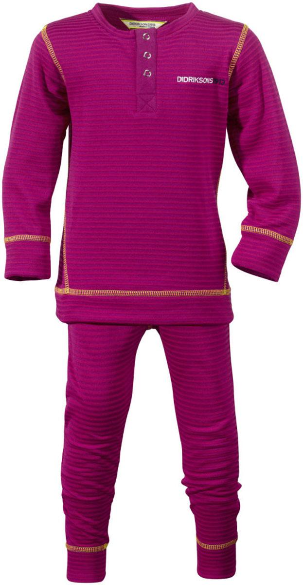 Костюм для девочки Didriksons1913 Moarri, цвет: лиловый. 501030_197. Размер 130501030_197Детский костюм из мягкого и комфортного флиса. Отличное дополнение к гардеробу домашней одежды. Может служить также утепляющим слоем в ненастную погоду.