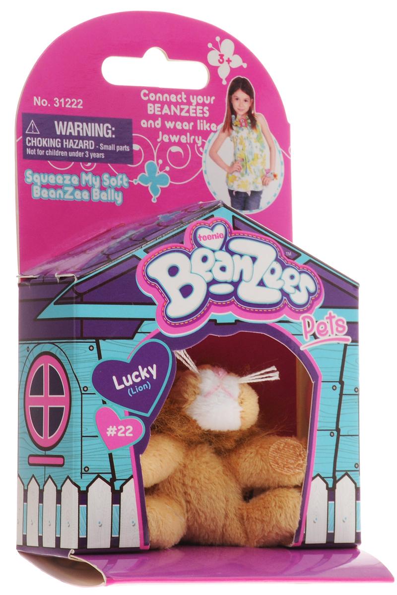 BeanzeesМягкая игрушка Лев Lucky 5 см Beanzees