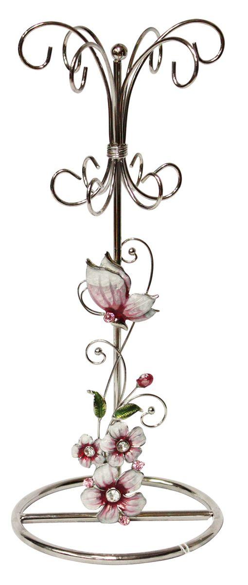 Подставка для украшений Jardin dEte Розовая глазурь, 10 х 10 х 24 смHS-22368Iсталь, стекло