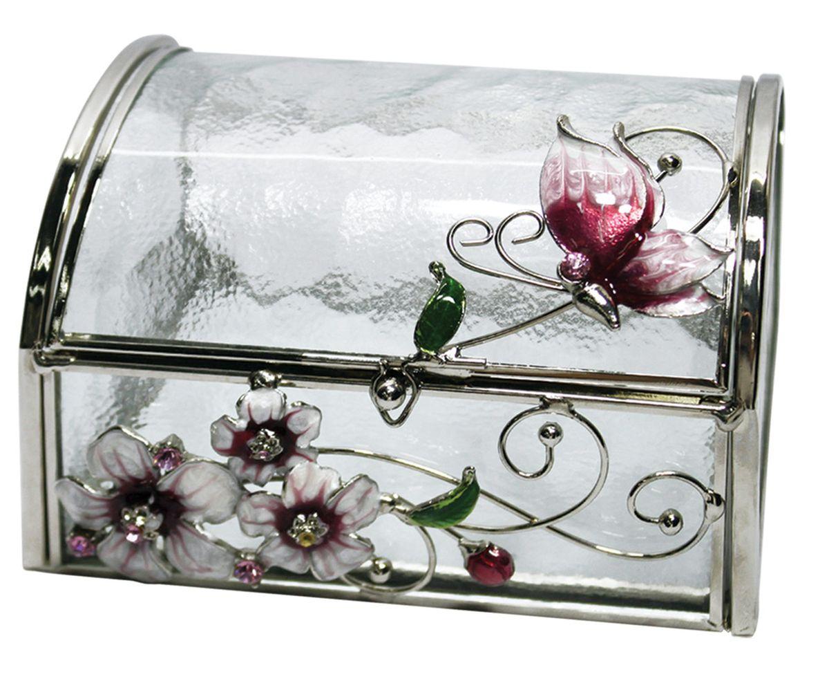Шкатулка Jardin d'Ete Розовая глазурь, 11 х 10 х 8 см шкатулка для украшений jardin d ete цвет бело золотой 30 х 20 х 22 5 см