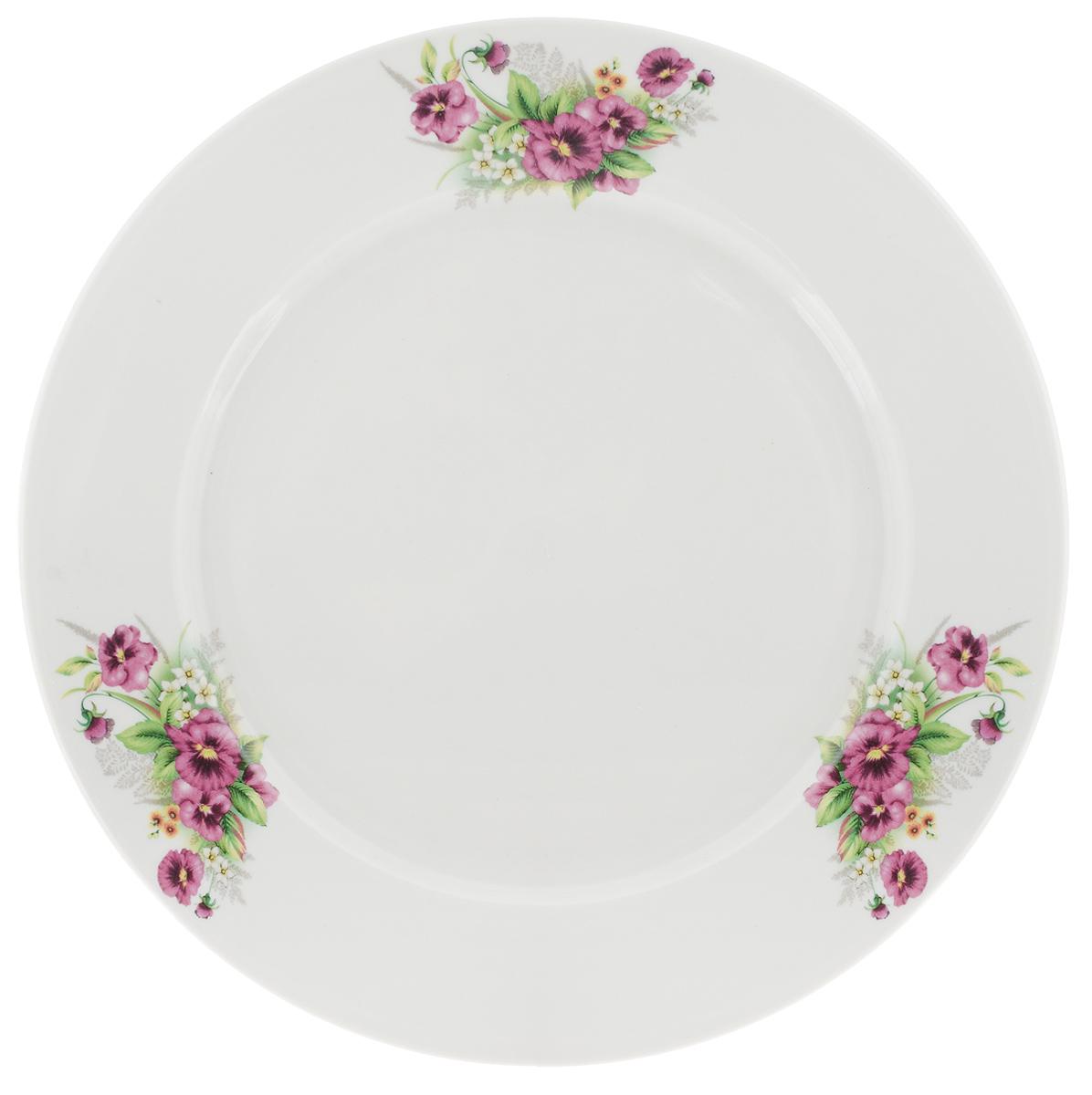 Тарелка Фарфор Вербилок Виола, цвет: белый, розовый, диаметр 24 см16590750Тарелка Фарфор Вербилок Виола, изготовленная из высококачественного фарфора, имеет классическую круглую форму. Оригинальный дизайн придется по вкусу и ценителям классики, и тем, кто предпочитает утонченность. Тарелка Фарфор Вербилок Виола идеально подойдет для сервировки стола и станет отличным подарком к любому празднику.