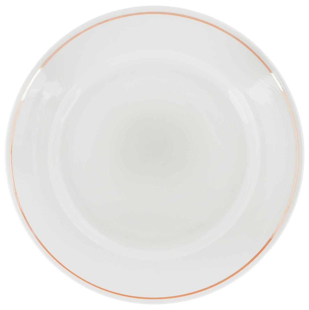 Тарелка Фарфор Вербилок, цвет: белый, коричневый, диаметр 23,5 см22591240Тарелка Фарфор Вербилок, изготовленная из высококачественного фарфора, имеет классическую круглую форму. Оригинальный дизайн придется по вкусу и ценителям классики, и тем, кто предпочитает утонченность. Тарелка Фарфор Вербилок идеально подойдет для сервировки стола и станет отличным подарком к любому празднику.
