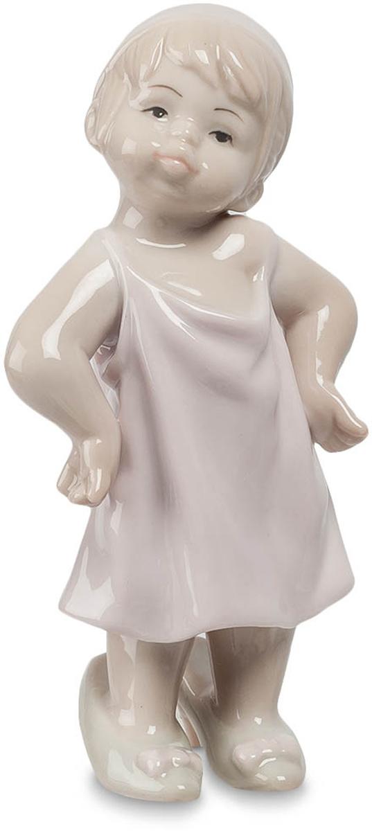 Статуэтка Pavone Девочка, цвет: белый, бежевый. JP-29/14