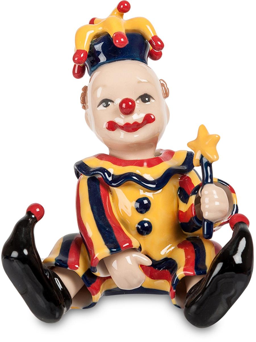 Статуэтка Pavone Клоун, цвет: желтый, синий, красный. CMS-23/39