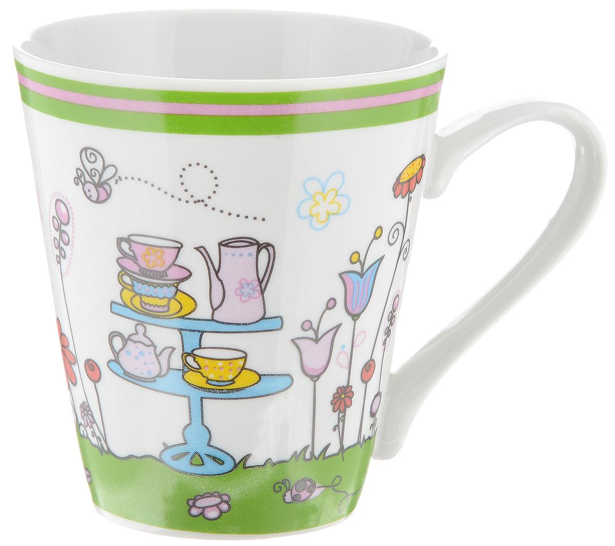 Кружка Фарфор Вербилок Коника. Пикник, цвет: зеленый, розовый, высота 9 см34493860Красивая кружка Фарфор Вербилок Коника. Пикник способна скрасить любое чаепитие. Изделие выполнено из высококачественного фарфора. Посуда из такого материала позволяет сохранить истинный вкус напитка, а также помогает ему дольше оставаться теплым.Диаметр по верхнему краю кружки: 8 см.Диаметр основания: 5 см.Высота кружки: 9 см.