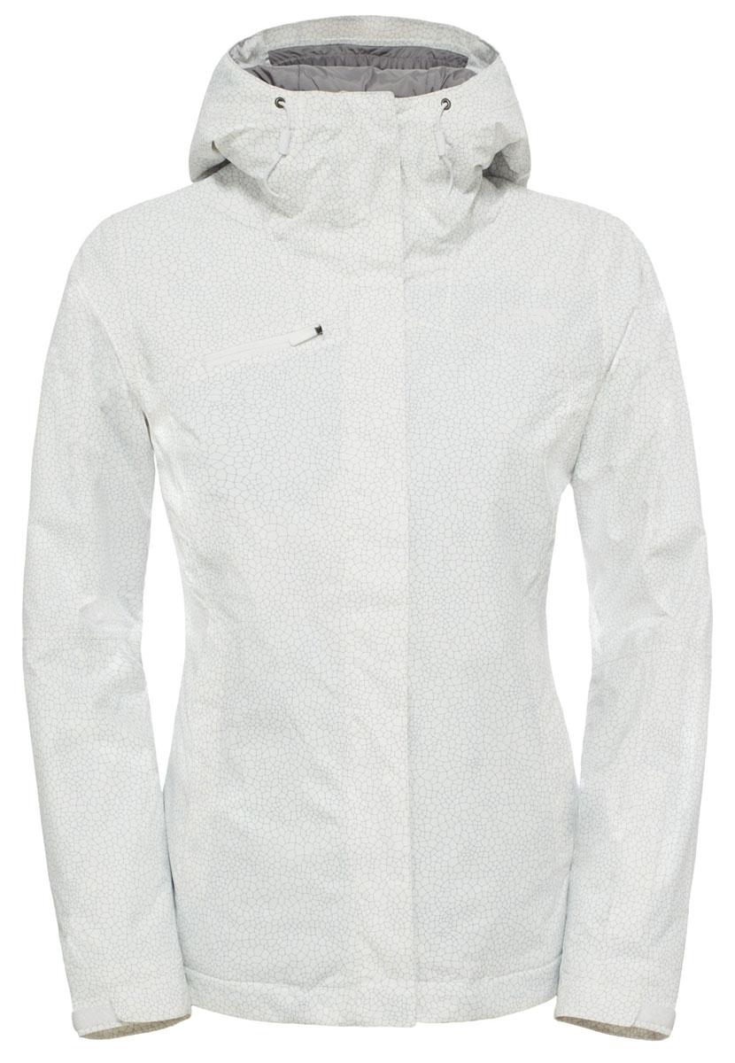 Куртка для сноуборда женская The North Face Descendit, цвет: белый. T92TXTFN4. Размер S (42/44) футболка женская the north face w ss simple dome tee цвет красный t0a3h6rkv размер s 42