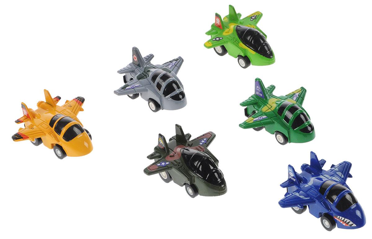 Дрофа-Медиа Набор инерционных игрушек Самолеты 6 шт набор инерционных игрушек мотоциклы 966 11