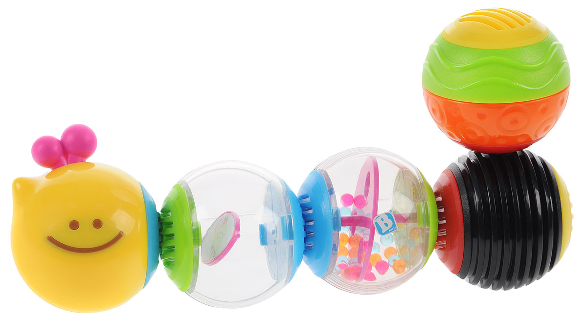B kids Развивающая игрушка Веселая гусеничка 004835, Bluebox