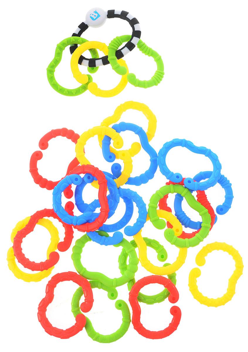B kids Игрушка-подвеска Веселые колечки battat b dot набор веселые колечки