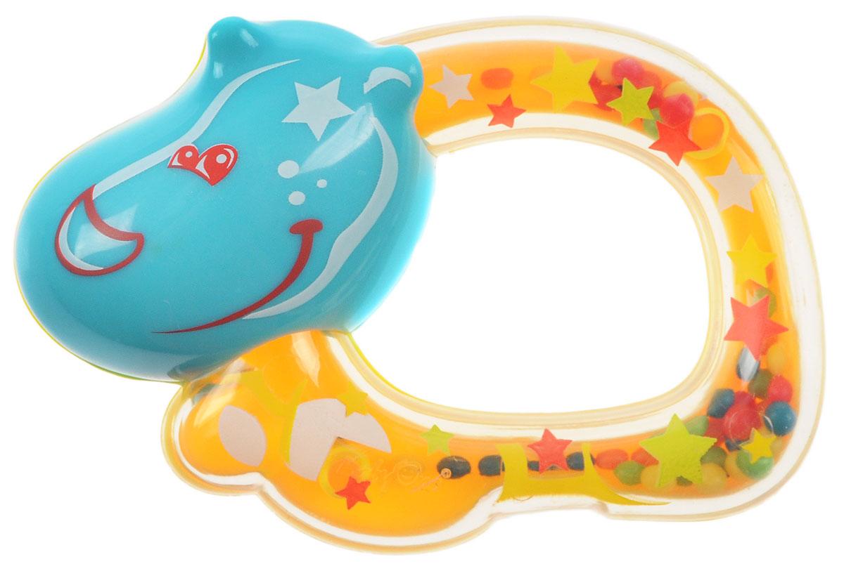 BabyOno Погремушка Бегемотик цвет желтый ночники babyono ночник с колыбельными baby бегемотик