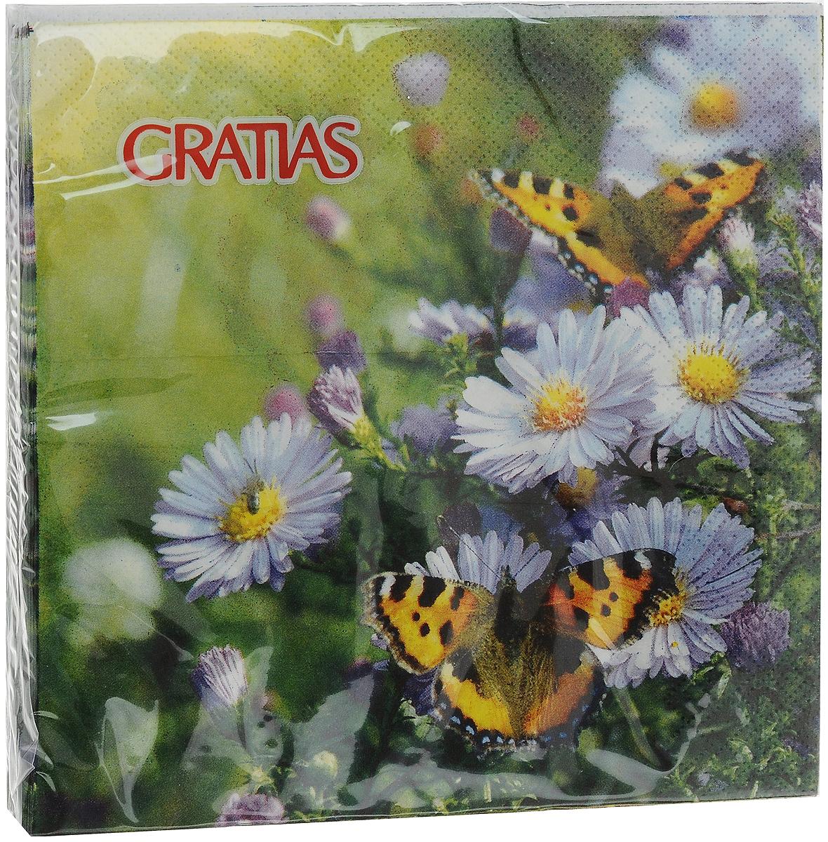 Салфетки бумажные Gratias Шоколадница, трехслойные, 33 х 33 см, 20 шт бра 22 х 33 х 33