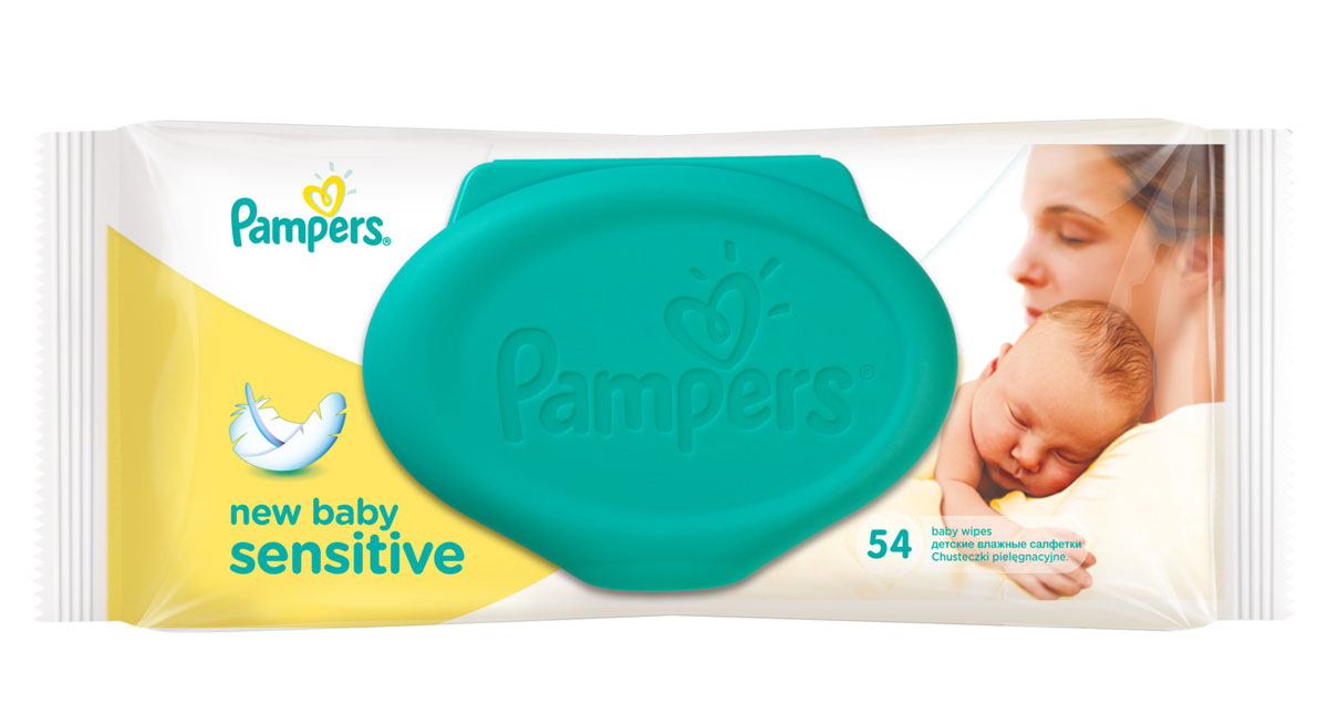 Pampers Детские влажные салфетки New Baby Sensitive 54 шт 4015400686101 pampers