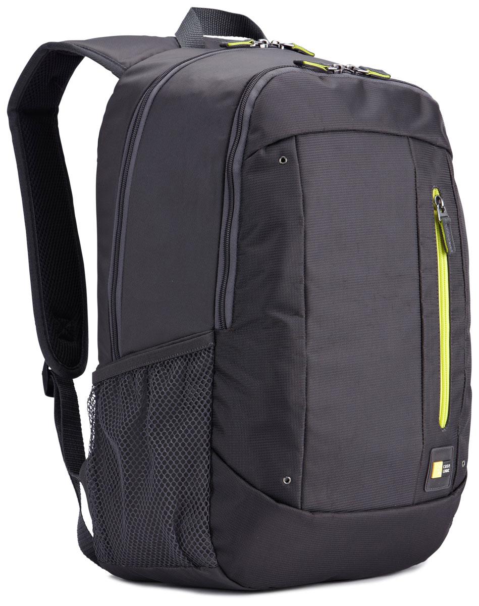 Case Logic Jaunt WMBP-115, Antracite рюкзак для ноутбука 15.6''WMBP-115_ANTHRACITECase Logic Jaunt WMBP-115 - изящное решение для ежедневного удобного и безопасного перемещения электроникии необходимых аксессуаров.Встроенный отдел для ноутбука 15,6, чехол для планшета и внутренний карман для хранения шнура питанияпозволяют держать электронику под рукой. Возможен быстрый доступ к часто используемым вещам черезпередний отдел, а организационная панель сохранит аксессуары в порядке, где бы вы ни находились в этот день.В передний карман можно положить необходимые в пути предметы, например телефон или жевательнуюрезинку. Панель-органайзер позволяет хранить небольшие аксессуары, а благодаря петлям для ручек вы всегдасможете сделать необходимую запись.Вшитый отдел для ноутбука 15,6 и чехол для планшета Внутренний карман для хранения зарядных устройств и кабелей предотвращает их спутывание Сетчатые боковые карманы для бутылок с водой