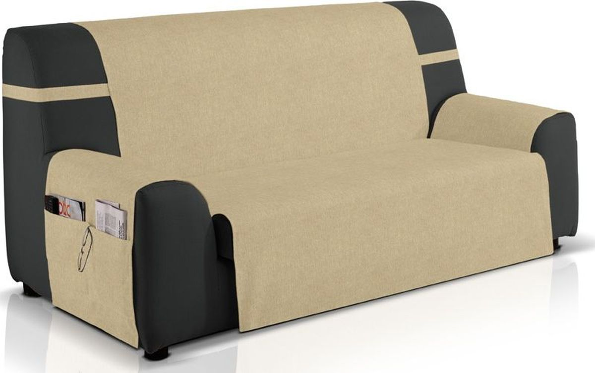 """Чехол на двухместный диван Медежда """"Иден"""" изготовлен из качественного непромокаемого материала на основе хлопка и полиэстера. Чехол очень удобен и прост в установке и дополнен практичными боковыми карманами, в  которых можно хранить пульты, журналы или газеты.Чехол легко растягивается, хорошо принимает форму  дивана и подходит для большинства стандартных диванов с шириной спинки 120 см. За счет специальных фиксаторов чехол прочно держится на мебели, не съезжает и не соскальзывает.  Непромокаемый вариант чехла подойдет для семей с маленькими детьми и домашними животными."""