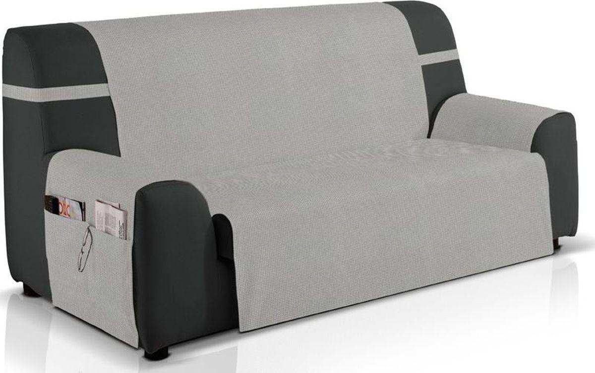 """Чехол на трехместный диван Медежда """"Иден"""" изготовлен из качественного непромокаемого материала на основе хлопка и полиэстера. Чехол очень удобен и прост в установке и дополнен практичными боковыми карманами, в  которых можно хранить пульты, журналы или газеты.Чехол легко растягивается, хорошо принимает форму  дивана и подходит для большинства стандартных диванов с шириной спинки 160 см. За счет специальных фиксаторов чехол прочно держится на мебели, не съезжает и не соскальзывает.  Непромокаемый вариант чехла подойдет для семей с маленькими детьми и домашними животными."""