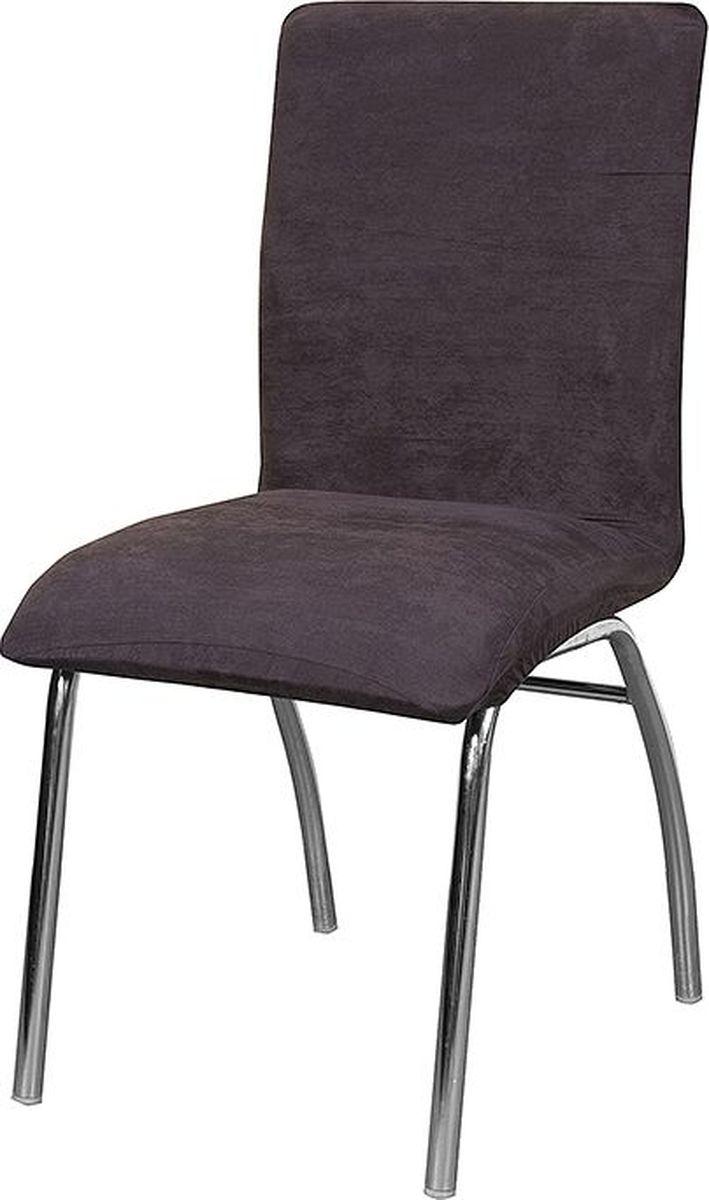 """Чехол на стул Медежда """"Лидс"""" изготовлен из искусственной замши, благодаря чему он очень приятен на ощупь и практичен в использовании.  Чехол легко растягивается, хорошо принимает форму стула и подходит для стандартных стульев с высотой спинки от 40 см до 55 см и шириной сиденья от 40 см до 55 см. Искусственная замша сочетает в себе изящество, стиль и характерные эффекты натуральной замши с прочностью, износостойкостью и фантастическими техническими характеристиками самых современных материалов. По внешнему виду материал практически неотличим от натуральной замши, имеет максимальное визуальное сходство и создает неповторимое ощущение теплоты и пространства."""