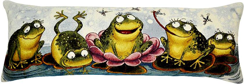 Подушка декоративная Рапира Баловни. Лягушата, 35 х 90 см рапира венок нежность круглая 50 см гобеленовая салфетка