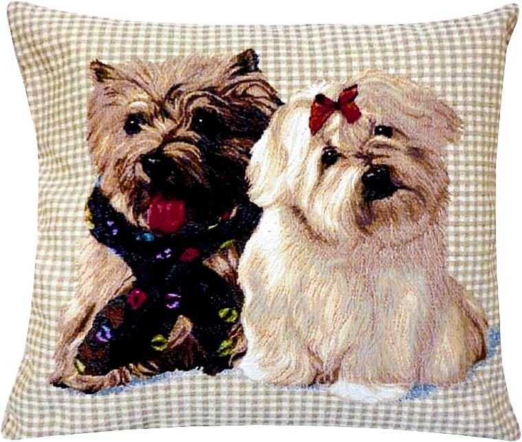 Подушка декоративная Рапира Верные друзья, 45 х 45 см4345Декоративная подушка с наполнителем холлофайбер со съёмным чехлом на молнии, выполненным из жаккарда, - это яркий штрих в интерьере комнаты. Лицевая сторона - гобелен (жаккардовое ткачество), оборотная сторона -однотонная ткань типа плюш.