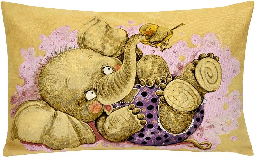 Подушка декоративная Рапира Дружба. Птичка, 50 х 70 см5189Декоративная подушка с наполнителем холлофайбер со съёмным чехлом на молнии, выполненным из жаккарда, - это яркий штрих в интерьере комнаты. Лицевая сторона - гобелен (жаккардовое ткачество), оборотная сторона -однотонная ткань типа плюш.