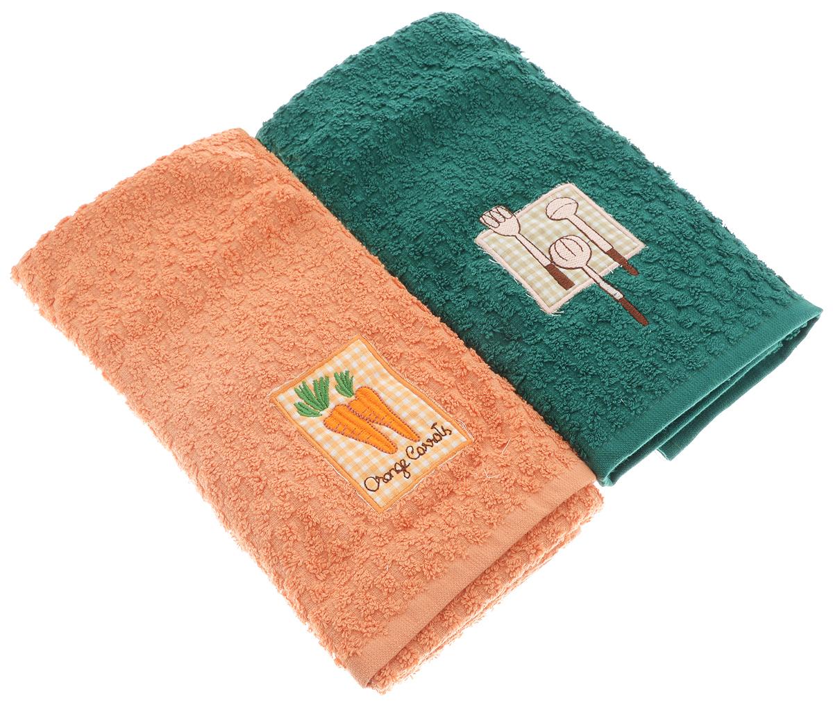 Набор кухонных полотенец Bonita Солнечный, 40 х 60 см, 2 шт20100313373морковь/ложкиНабор полотенец Bonita Солнечный, изготовленный из махры - 100% хлопка, идеально дополнит интерьер вашей кухни и создаст атмосферу уюта и комфорта. В набор входят два полотенца, которые оформлены вышивкой. Изделия выполнены из натурального материала, поэтому являются экологически чистыми. Высочайшее качество материала гарантирует безопасность не только взрослых, но и самых маленьких членов семьи. Современный декоративный текстиль для дома должен быть экологически чистым продуктом и отличаться ярким и современным дизайном. Кухня, столовая, гостиная - то место в доме, где хочется собраться всем вместе, ощутить радость и уют. И немалая доля этого уюта зависит от подобранных под вашу мебель, и что уж говорить, под ваше настроение - полотенец, скатертей, салфеток и прочих милых мелочей. Bonita предлагает коллекции готовых стилистических решений для различной кухонной мебели, множество видов, рисунков и цветов. Вам легко будет создать нужную атмосферу на кухне и в столовой с товарами Bonita.