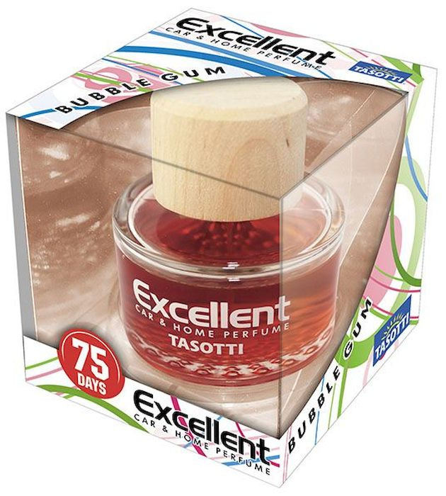 Ароматизатор автомобильный Tasotti Excellent. Bubble Gum, спрей, 60 мл ароматизатор подвесной fouette aroma box bubble gum