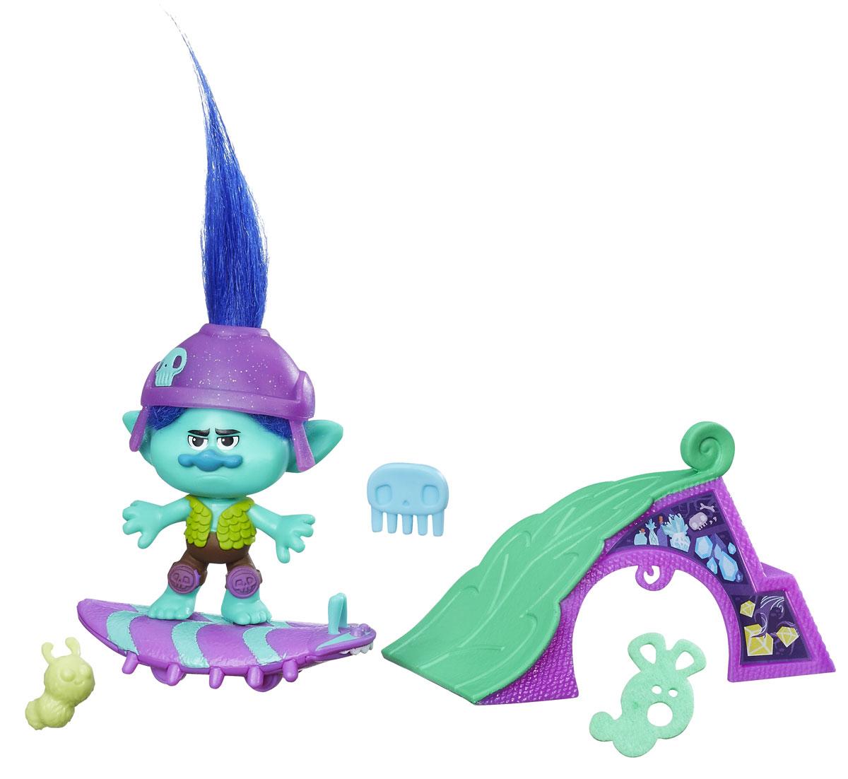 Trolls Игровой набор Цветан на скейте trolls канцелярский набор 4 предмета