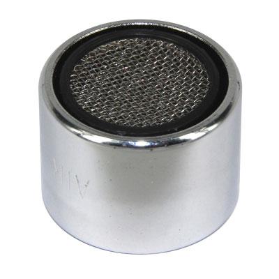 Аэратор для кухонного смесителя Remer, 22 ммИС.130800Аэратор Remer предназначен для насыщения воздухом водной струи, выходящей из смесителя. Корпус изделия выполнен из высококачественной хромированной стали, сетка - нержавеющая сталь. Аэратор создает приятные ощущения для рук и предотвращает разбрызгивание в процессе использования. Одновременно способствует сокращению потребления воды. Легко разбирается для чистки.Тип резьбы: внутренняя.Диаметр резьбы: 22 мм.