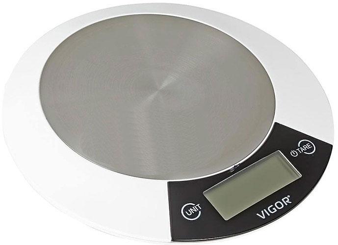 Vigor HX-8205 кухонные весыHX-8205Превосходные электронные кухонные весы. Максимальная нагрузка составляет пять килограмм при точности взвешивания в 1 грамм