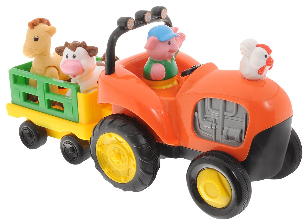 Kiddieland Развивающая игрушка Трактор фермера с животными куб развивающий kiddieland