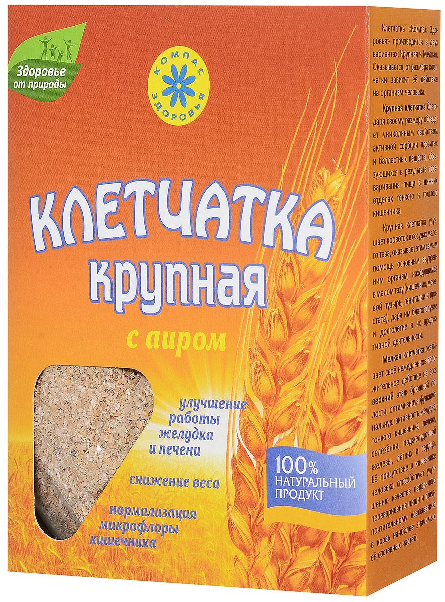 Компас Здоровья клетчатка пшеничная крупная с аиром, 150 г сибирская клетчатка mу body slim фитококтейль имбирь и корица 170 г