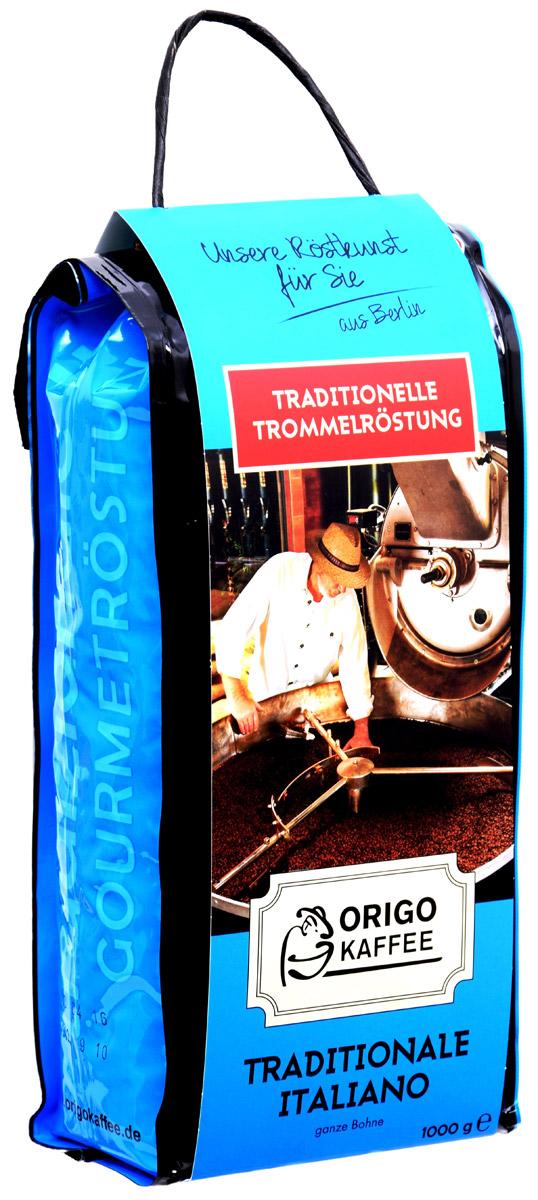 ORIGO Tradizionale Italiano кофе в зернах, 1 кг3002001000Оптимальное соотношение Арабики и Робусты, 85% на 15%. Изобретая этот аромат, специалисты компании ORIGO вдохновлялись итальянскими традициями обжарки. Классический итальянский эспрессо с характером, легкой горчинкой, сочетающейся с ароматами ореха и сухофруктов.